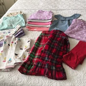 Bundle of girls clothes 18m 24m 2t pajamas onesie